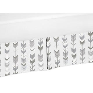Sweet Jojo Designs Twin Bed Skirt for the Grey and White Mod Arrow Collection