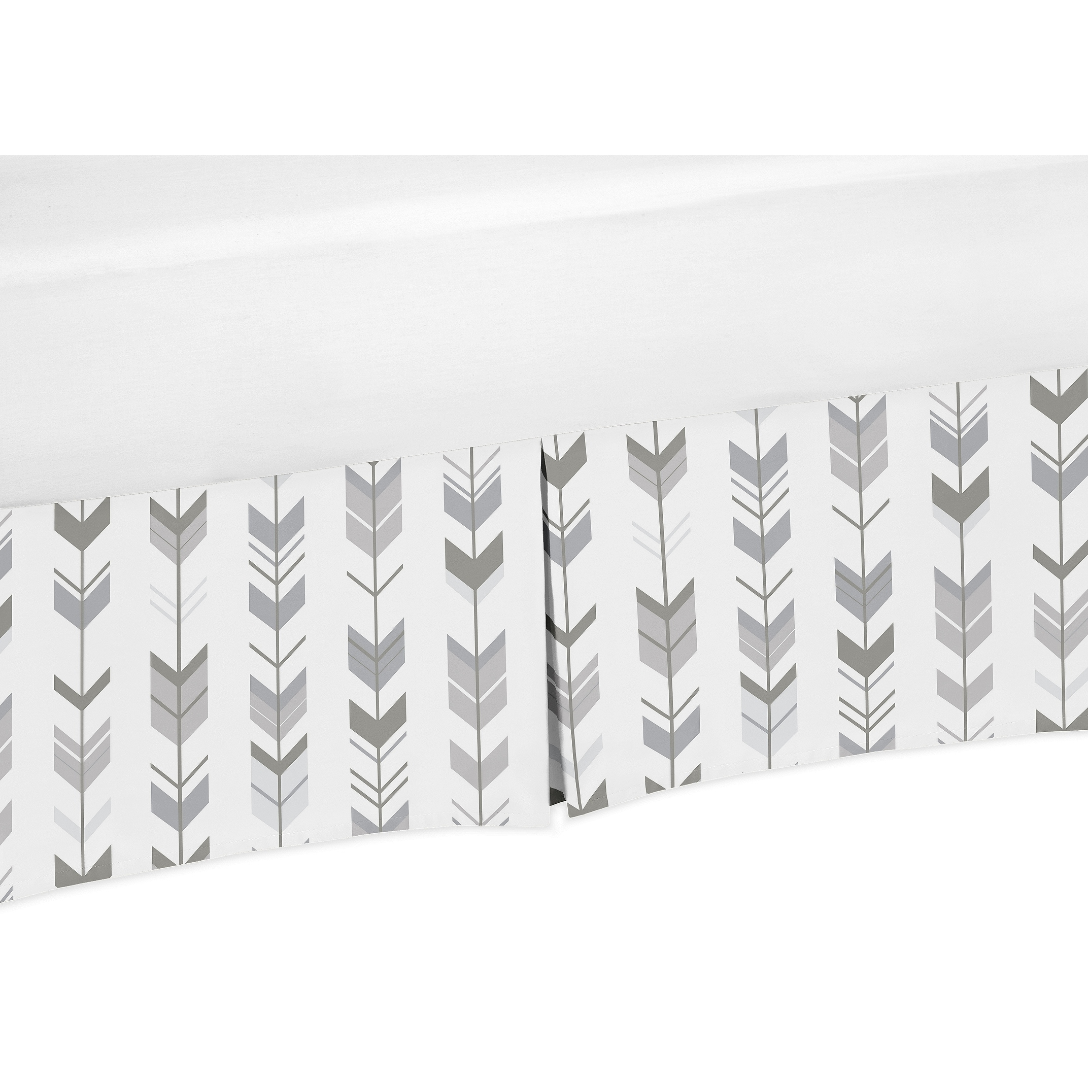 Sweet Jojo Designs Queen Bed Skirt For The Grey And White Mod Arrow Collection Overstock 18131700