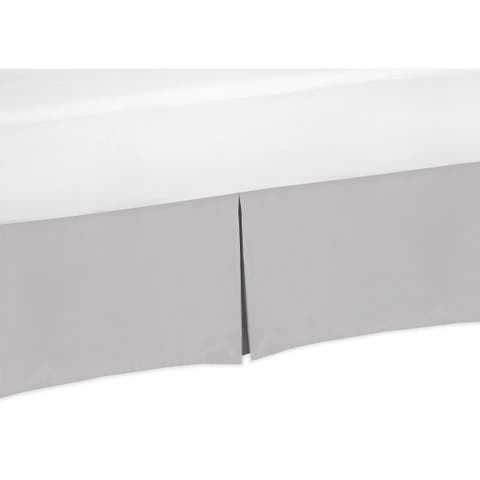 Sweet Jojo Designs Twin Bed Skirt for the Grey and White Woodsy Collection