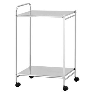 Furinno Wayar Kitchen Cart with Casters, Chrome, WS17053