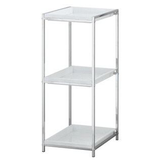 Furinno Wayar 3-Tier Tray Shelf, Chrome WS17315