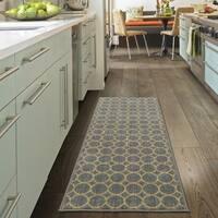 Ottomanson Studio Collection Grey Circles Design Runner Rug, - 1'8 x 4'11