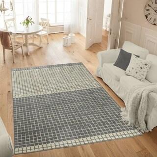 Ottomanson Studio Collection Grey Layered Design Area Rug - 3'3 x 5'