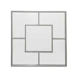 Three Hands Metal Wall Mirror  Decor - Sil - N/A