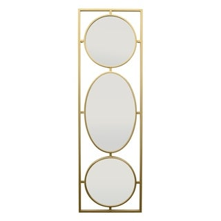 Three Hands Wall Mirror - Metal - 15 X 0.75 X 48