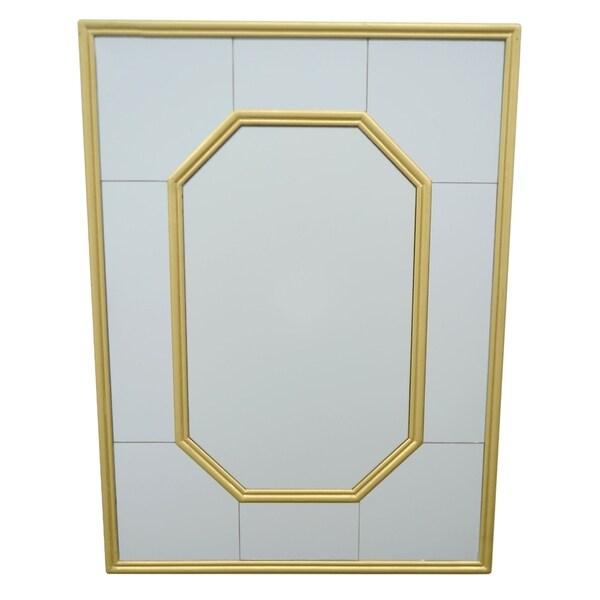 Three Hands Mirror W/Wood Frame - Metal - 20.5 X 1 X 26.75