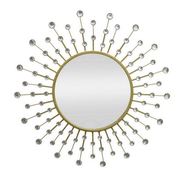 Three Hands Metal Mirror - Gold - 27.5 X 0.5 X 27.5