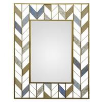 Three Hands Gold Metal Wall Mirror