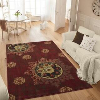 Ottomanson Studio Collection Medallion Design Area Rug (3' x 5')