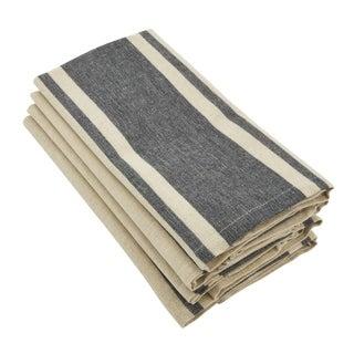Classic Banded Stripe Design Cotton Napkin - set of 4 pcs