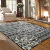 Ottomanson Studio Collection Medallion Design Area Rug, - 5' x 7'