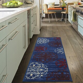 "Ottomanson Studio Collection Medallion Design Runner Rug, (20"" x 59"") - 1'8 x 4'11 (2 options available)"