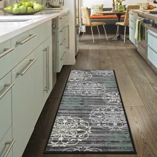 Ottomanson Studio Collection Medallion Design Runner Rug, - 1'8 x 4'11