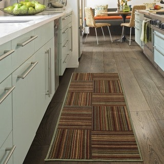 """Ottomanson Studio Collection Multicolor Stripes  Design Runner Rug, (20"""" x 59"""")"""