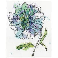 Blue Floral Counted Cross Stitch Kit