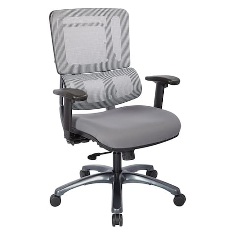 Vertical Grey Mesh Back Office Chair with Titanium Base and Steel Mesh Seat