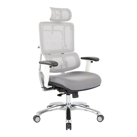 Proline II Breathable White Vertical Mesh Office Manager Chair