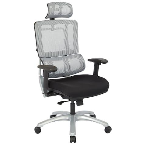 Vertical Grey Mesh Back Adjustable Office Chair