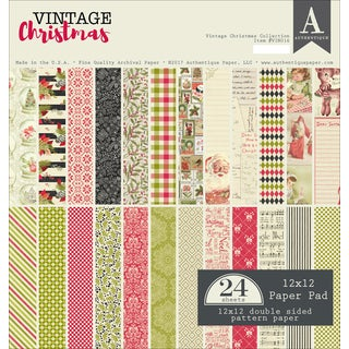 """Authentique Double-Sided Cardstock Pad 12""""X12"""" 24/Pkg https://ak1.ostkcdn.com/images/products/18131968/P24283967.jpg?_ostk_perf_=percv&impolicy=medium"""