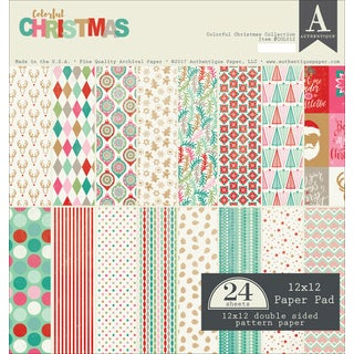 "Authentique Double-Sided Cardstock Pad 12""X12"" 24/Pkg"