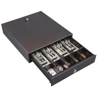 Hercules CD1314 Cash Drawer with Key Lock, Steel, Silver Vein