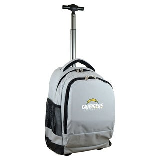 NFL Los angeles Chargers Wheeled Premium Backpack in Gray
