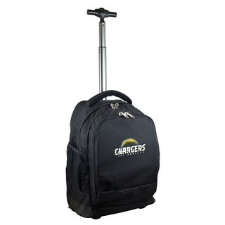 NFL Los angeles Chargers Wheeled Premium Backpack in Black