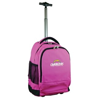 NFL Los angeles Chargers Wheeled Premium Backpack in Pink