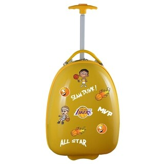 NBA Los Angeles Lakers Kids Pod Luggage in Yellow