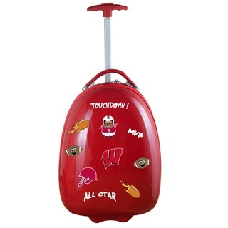 NCAA Wisconsin Kids Pod Luggage in Red
