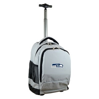 NFL Seattle Seahawks Wheeled Premium Backpack in Gray