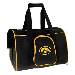 NCAA Iowa Pet Carrier Premium 16in bag in Yellow