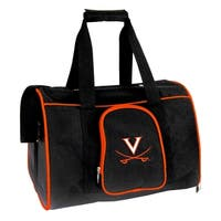 NCAA Virginia  Pet Carrier Premium 16in bag in Orange
