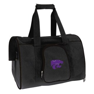 NCAA Kansas State Pet Carrier Premium 16in bag in Black