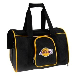 NBA Los Angeles Lakers Pet Carrier Premium 16in bag in Yellow