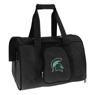 NCAA Michigan State Pet Carrier Premium 16in bag in Black