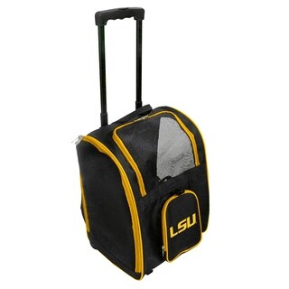 NCAA LSU Pet Carrier Premium bag with wheels in Yellow