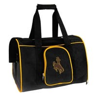 NCAA Wyoming Pet Carrier Premium 16in bag in Yellow