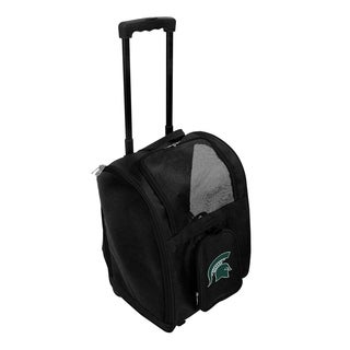 NCAA Michigan State Pet Carrier Premium bag with wheels in Black