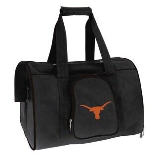 NCAA Texas Pet Carrier Premium 16in bag in Black
