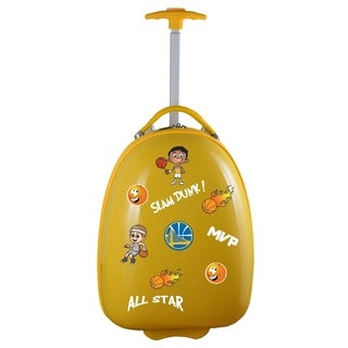 NBA Golden State Warriors Kids Pod Luggage in Yellow