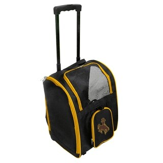 NCAA Wyoming Pet Carrier Premium bag with wheels in Yellow