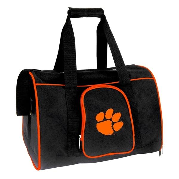 NCAA Clemson Pet Carrier Premium 16in bag in Orange