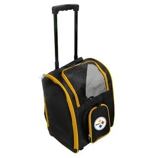 NFL Pittsburgh Steelers Pet Carrier Premium bag with wheels
