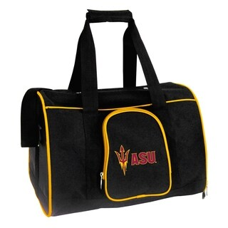 NCAA Arizona State Pet Carrier Premium 16in bag in Yellow