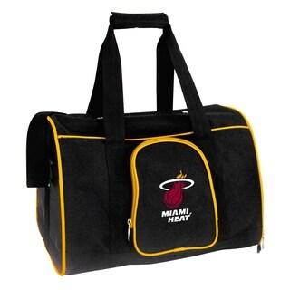 NBA Miami Heat Pet Carrier Premium 16in bag in Yellow
