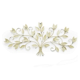 Three Hands Leaf Wall Art - Ivory