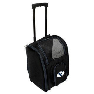 NCAA Brigham Young (BYU) Pet Carrier Premium bag with wheels in Navy