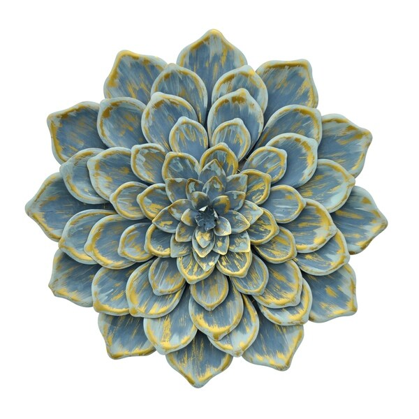 Shop Three Hands Metal Floral Wall Art - Free Shipping Today ...