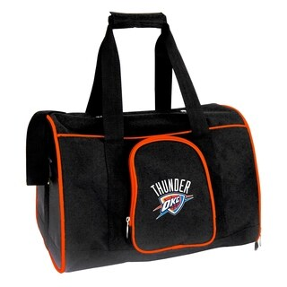 NBA Oklahoma City Thunder Pet Carrier Premium 16in bag in Orange